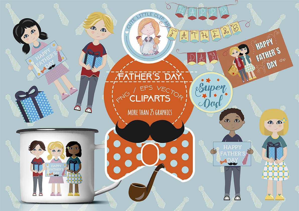 Father Day Clipart example image 4