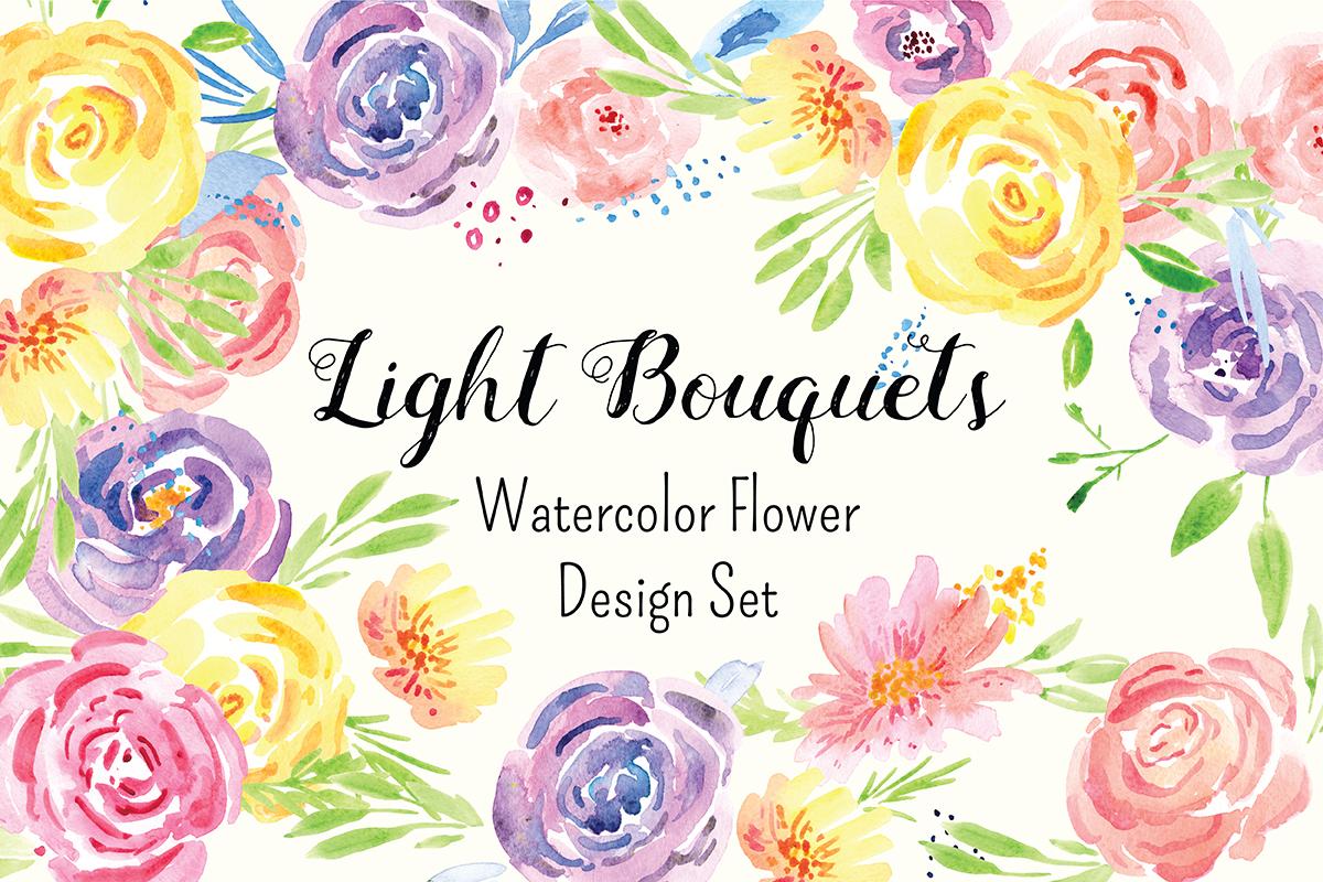 Delicate Flower Watercolor Clip Art example image 1
