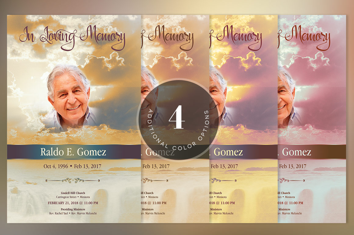 Forever Funeral Program Template example image 7