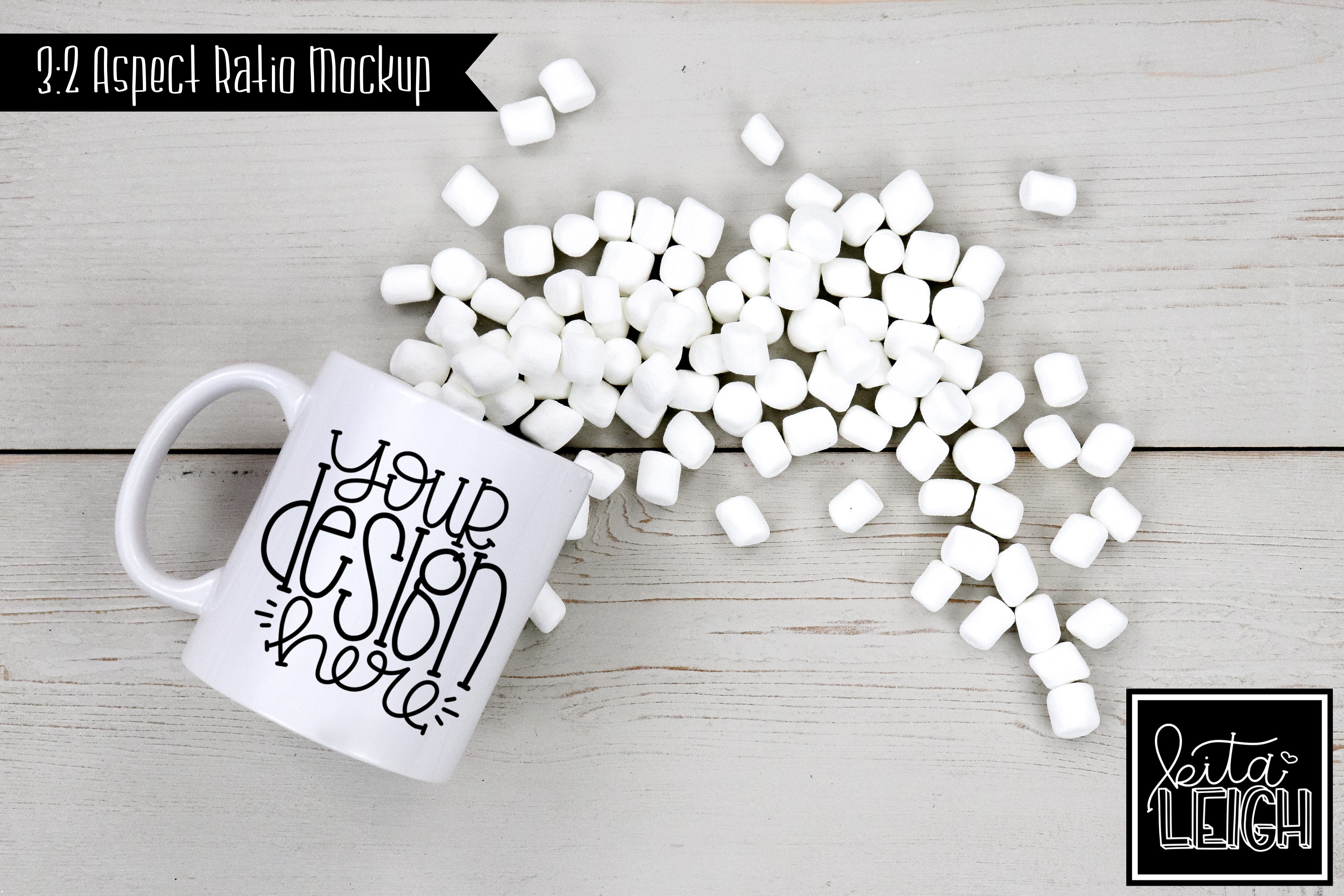 11 oz Mug Mockup with Chocolate, Coffee, Tea, and Mallows example image 5