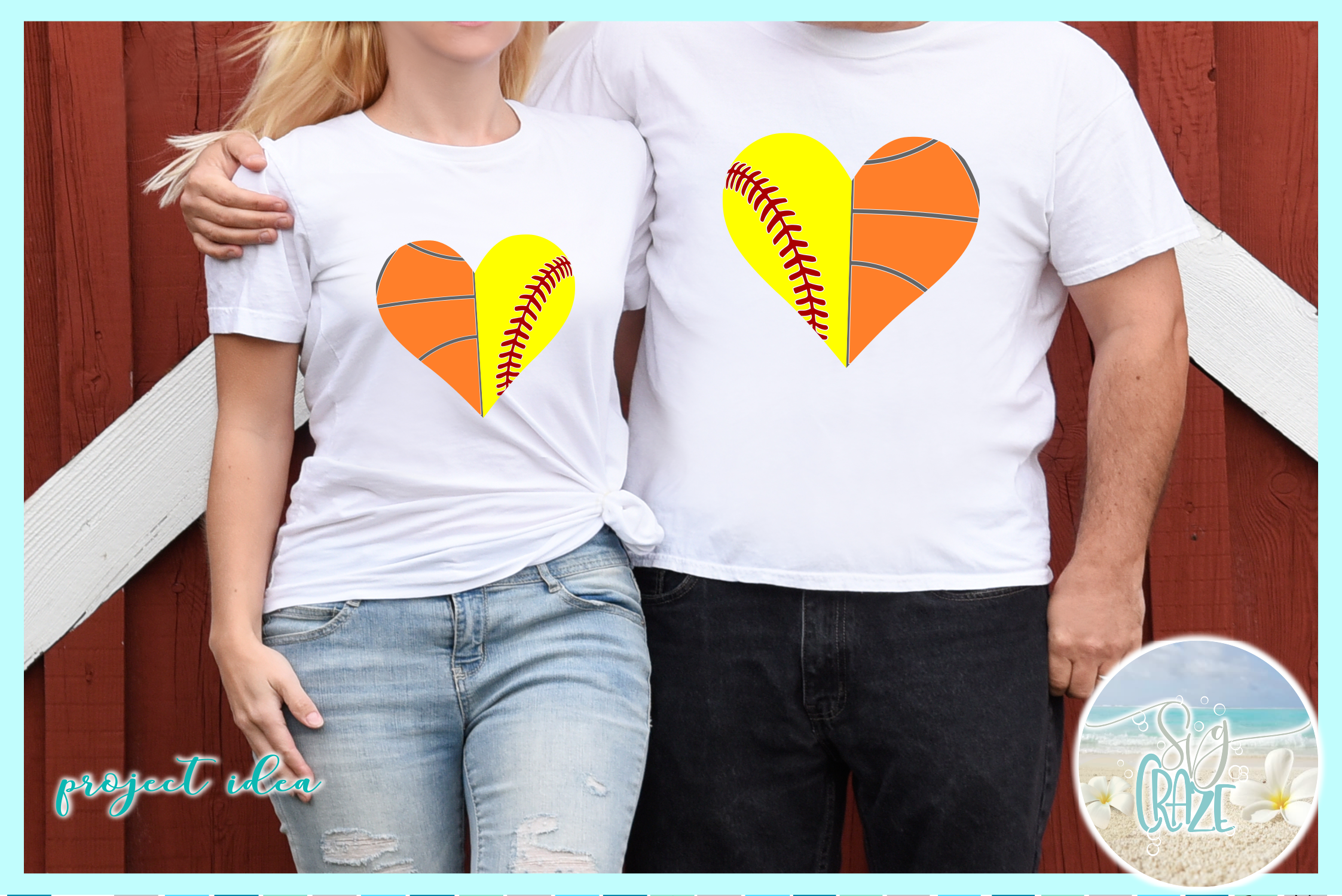 Proud Sports Mom Dad Half Heart Bundle SVG Dxf Eps Png PDF example image 2