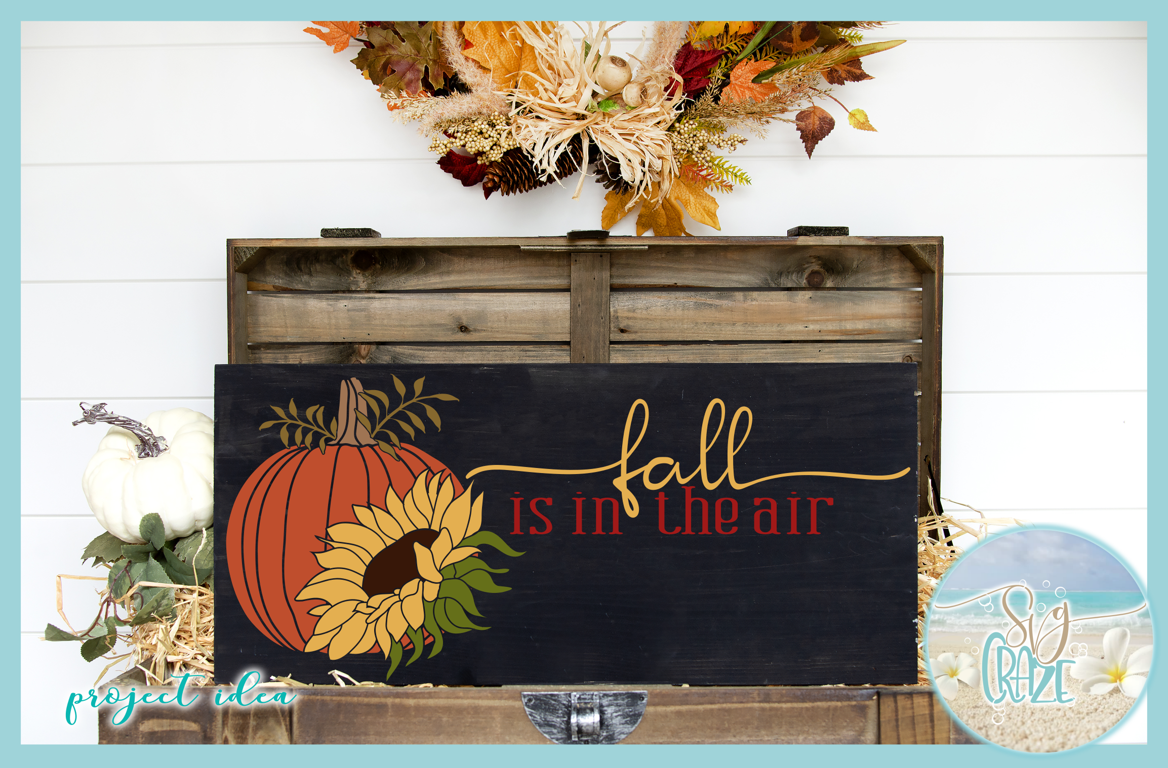 Autumn Fall Quotes Pumpkins And Sunflowers Mini SVG Bundle example image 5