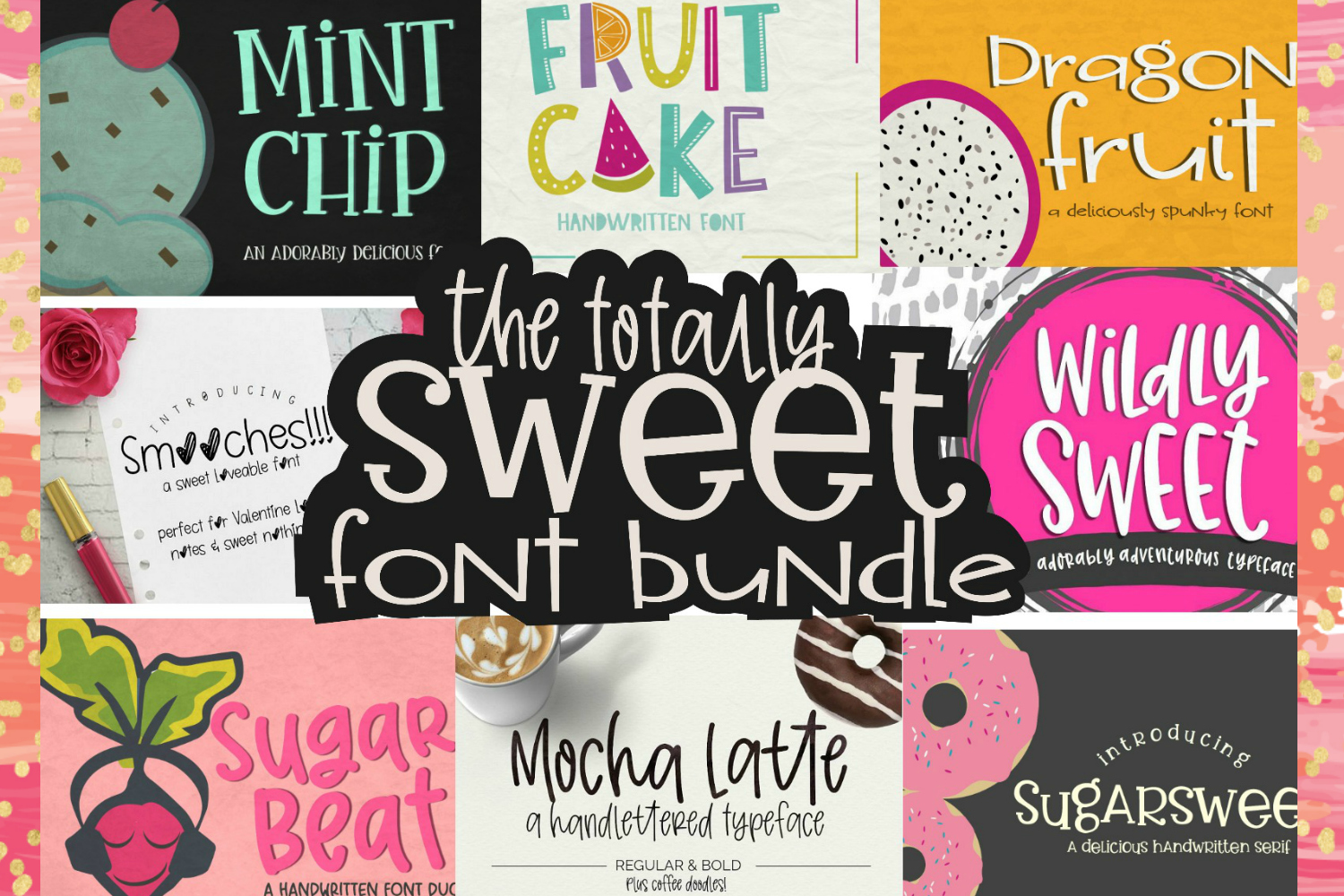 Totally Sweet Font Bundle example image 1