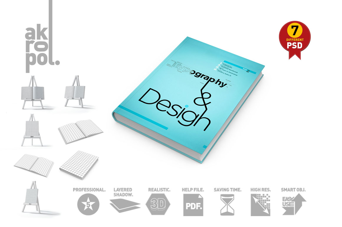 Book Mock-Up Set example image 2