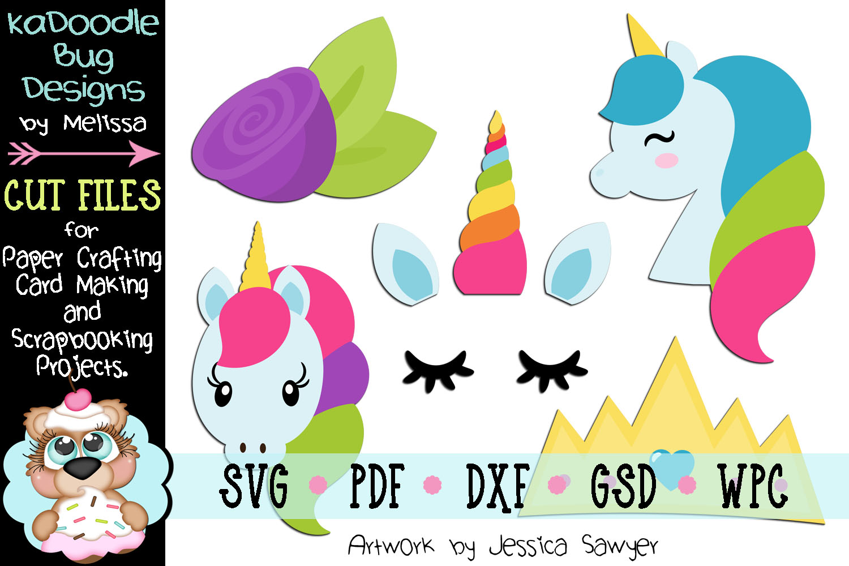 Pretty Unicorn Princess Cut File - SVG PDF DXF GSD WPC example image 1