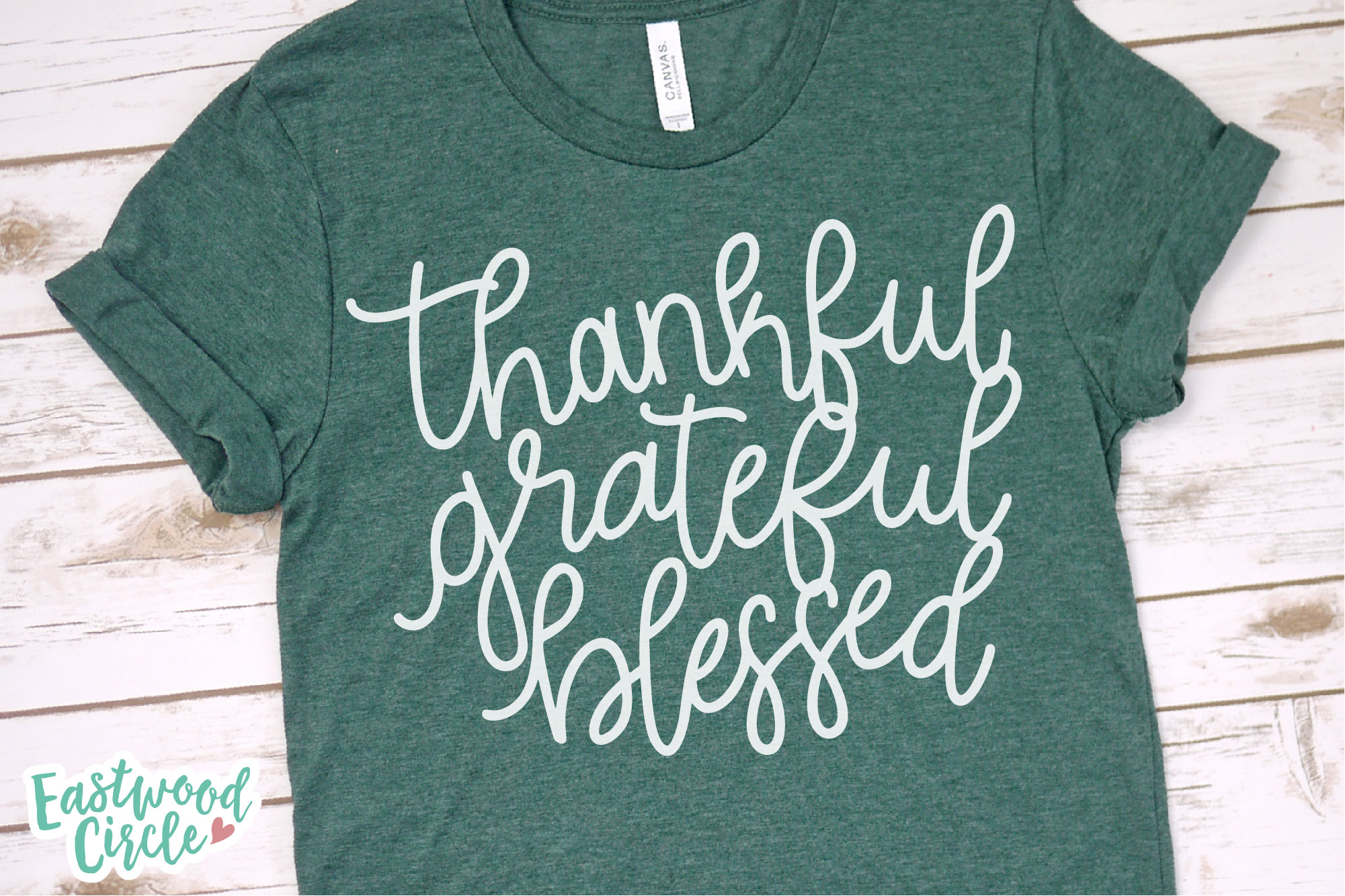 Thankful Grateful Blessed - Hand Lettered Fall SVG File example image 2