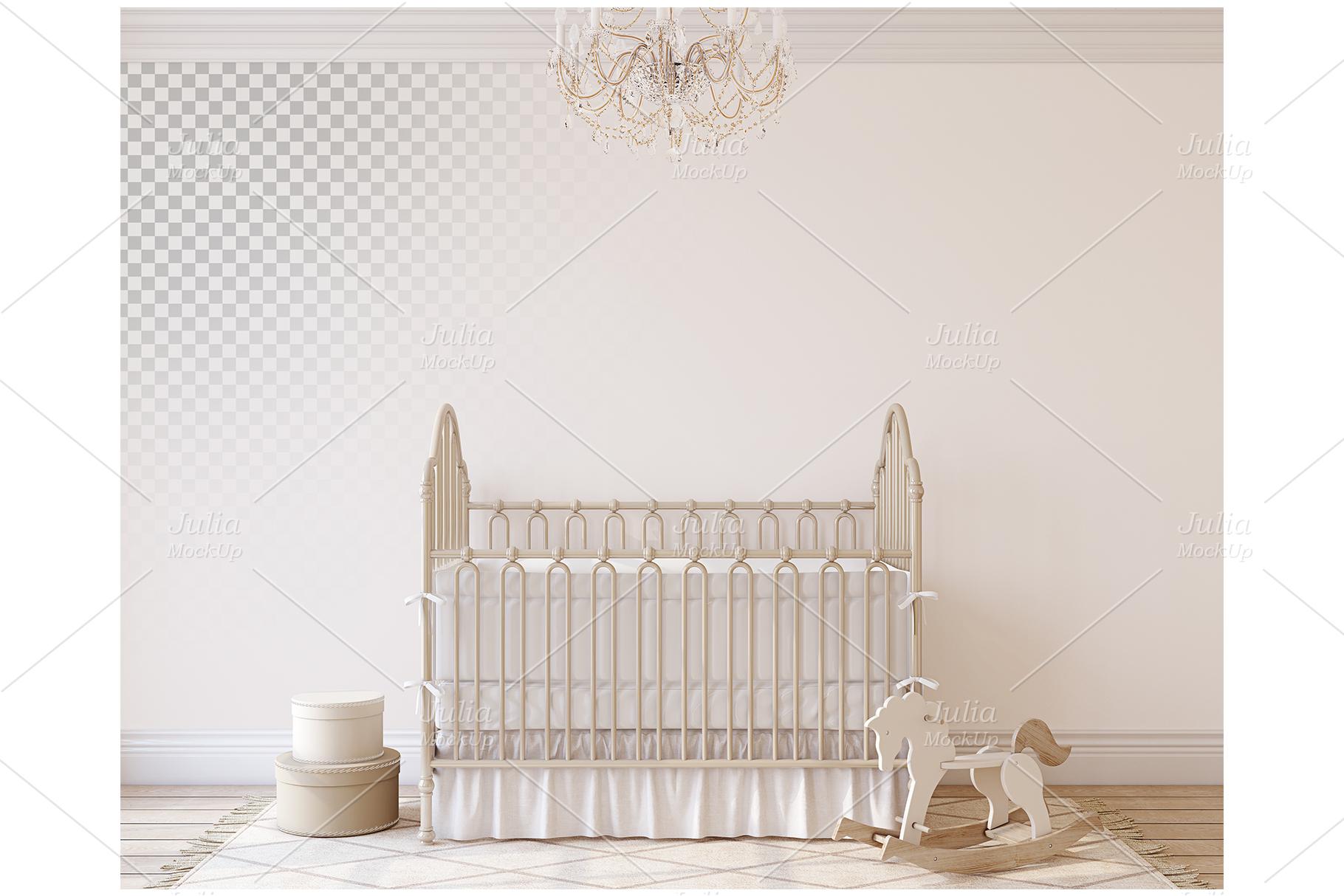 Romantic nursery. Wall&Frames Mockup. example image 2