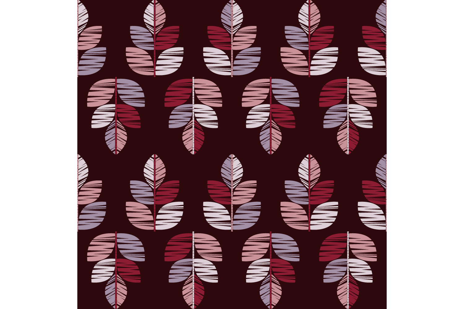 Decorative leaves. Set of 10 seamless patterns. example image 8