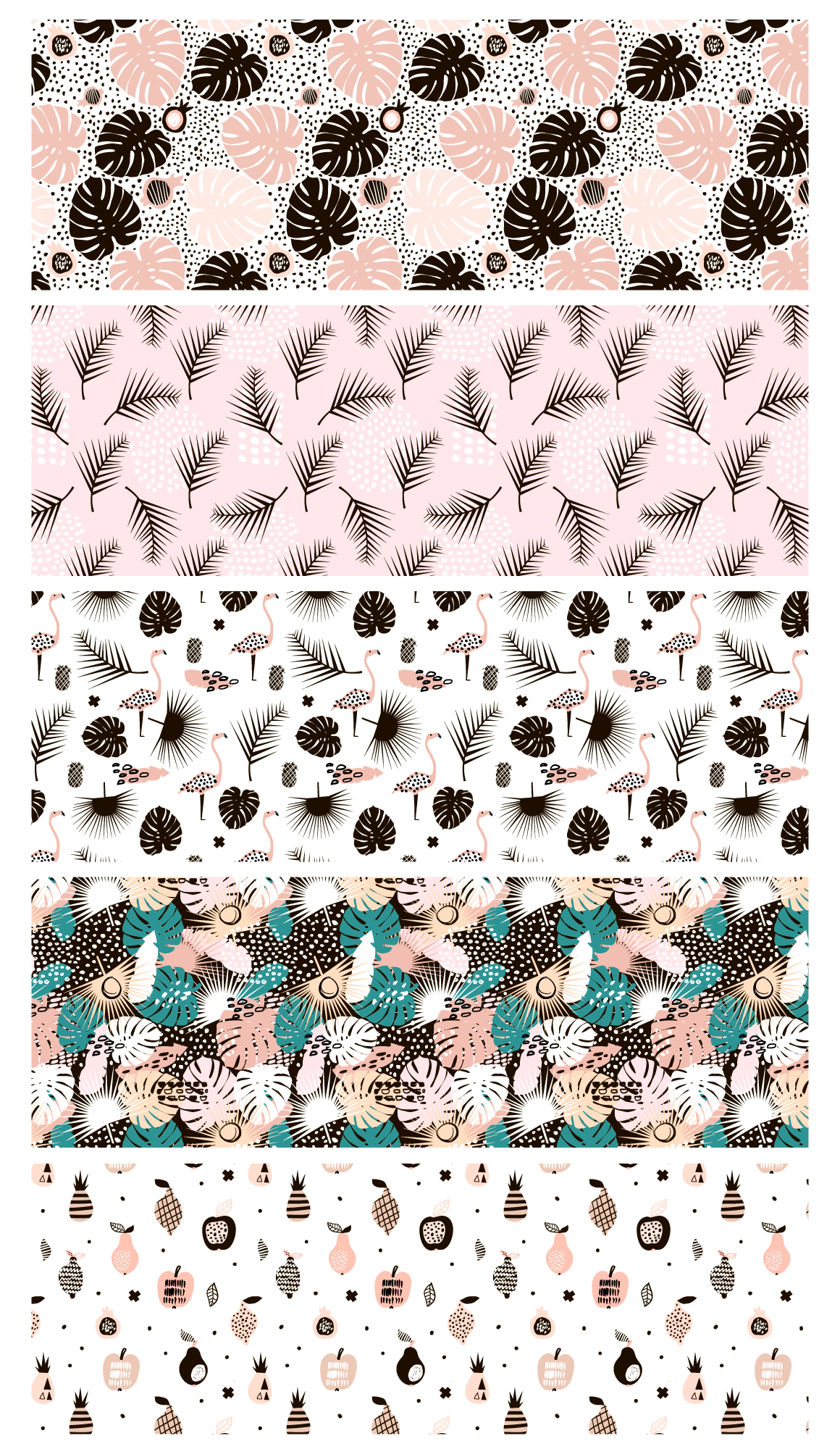 TROPICAL PATTERNS SET example image 2