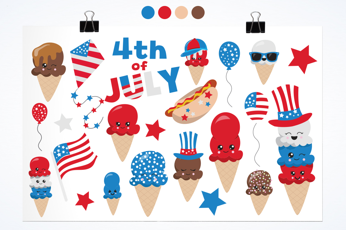 4th of July graphics and illustrations example image 4