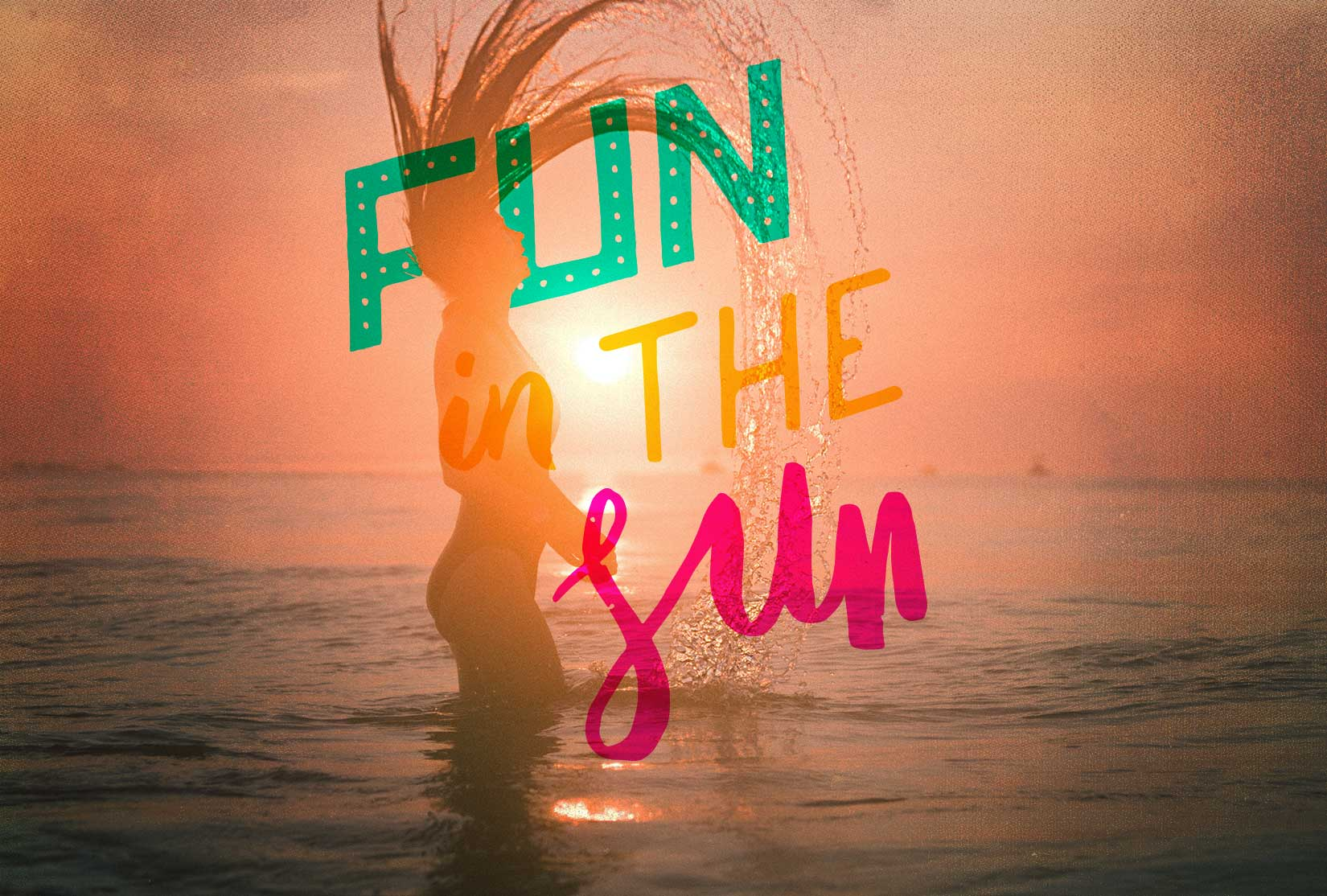 Summer Fun Lettering Pack example image 4