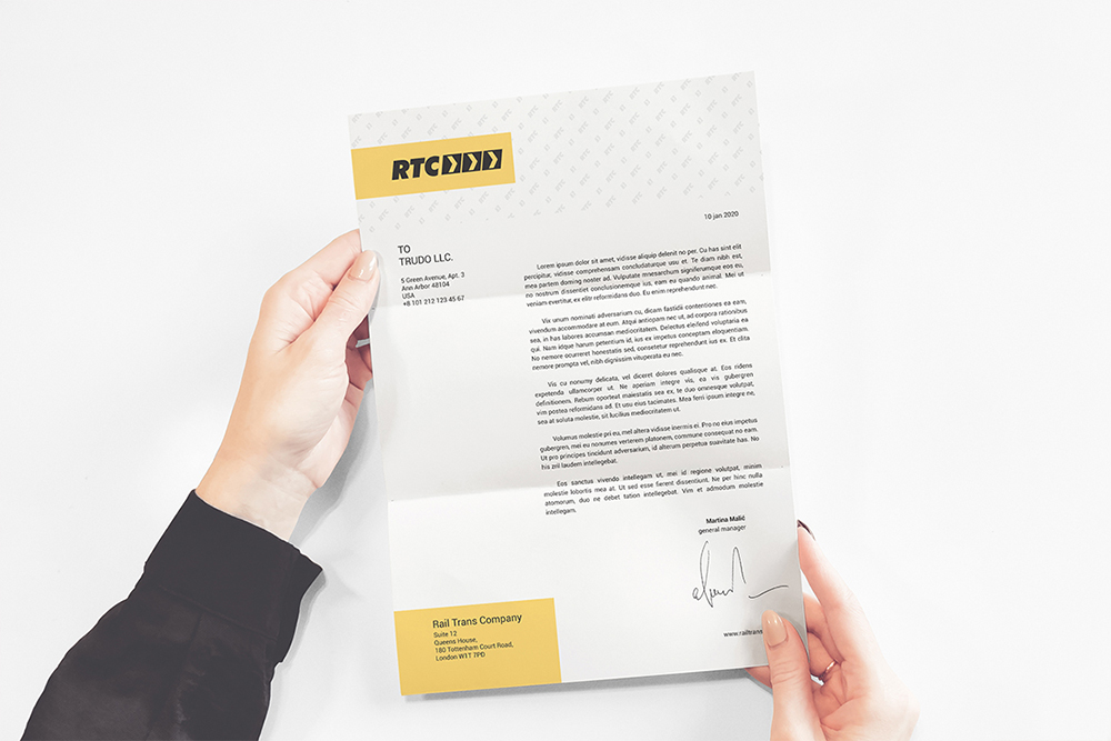 A4 Paper / Business Letter / Letterhead Mockup example image 6