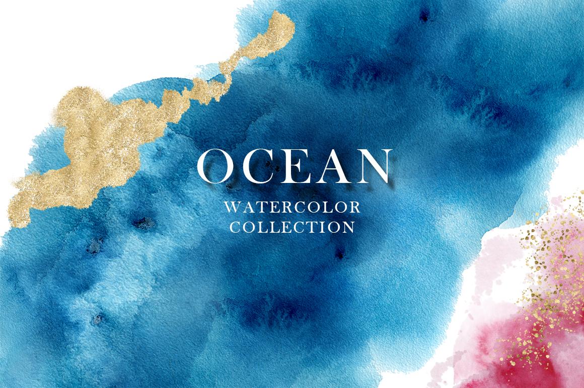 Ocean watercolor collection example image 14