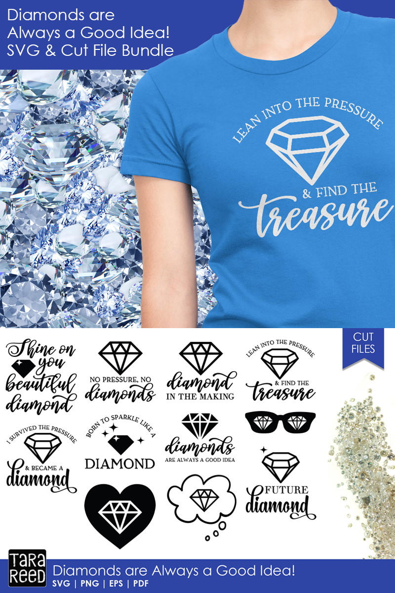Diamonds are Always a Good Idea - Diamond SVG and Cut Files example image 3