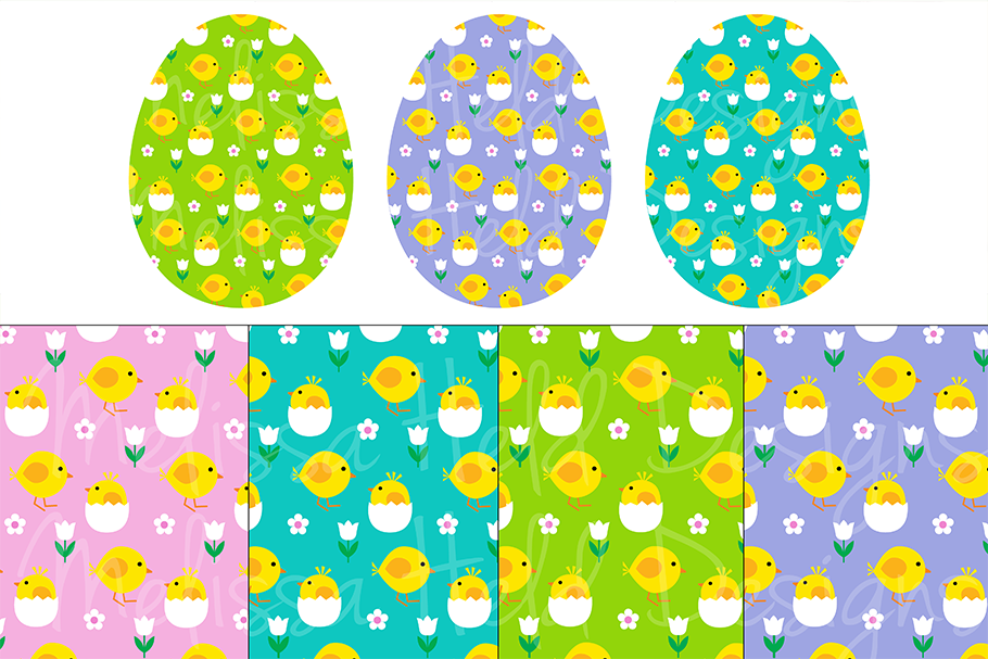 Easter Eggs & Patterns example image 2