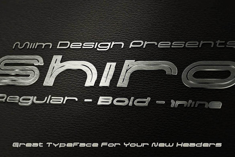 Shiro - Modern Font example image 5