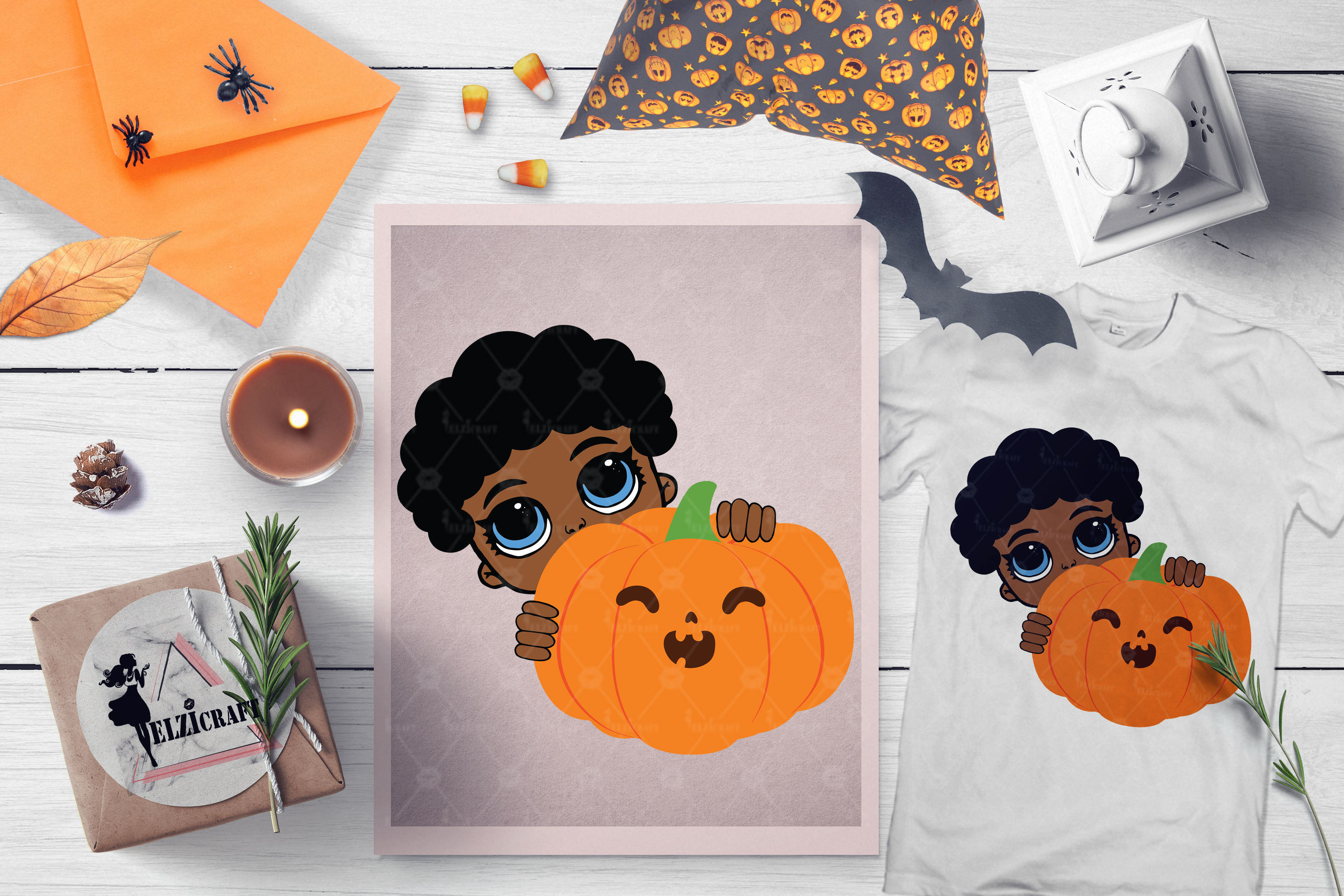 BUNDLE Halloween Afro Boys SVG Cut Files example image 8