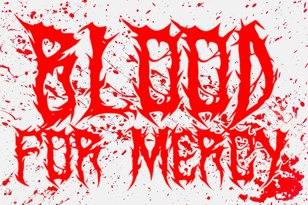 SARKEM TECHNICAL DEATH METAL FONT example image 3