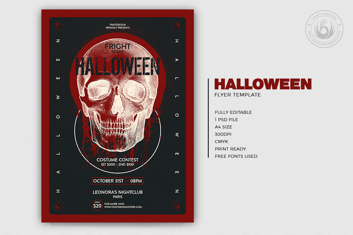 Halloween Flyer Template V25 example image 2