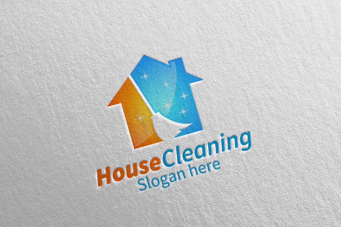 House Cleaning Service Logo Design example image 4