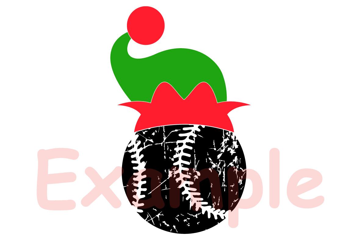 Baseball Christmas Hat svg Elf sweater 1046s example image 3
