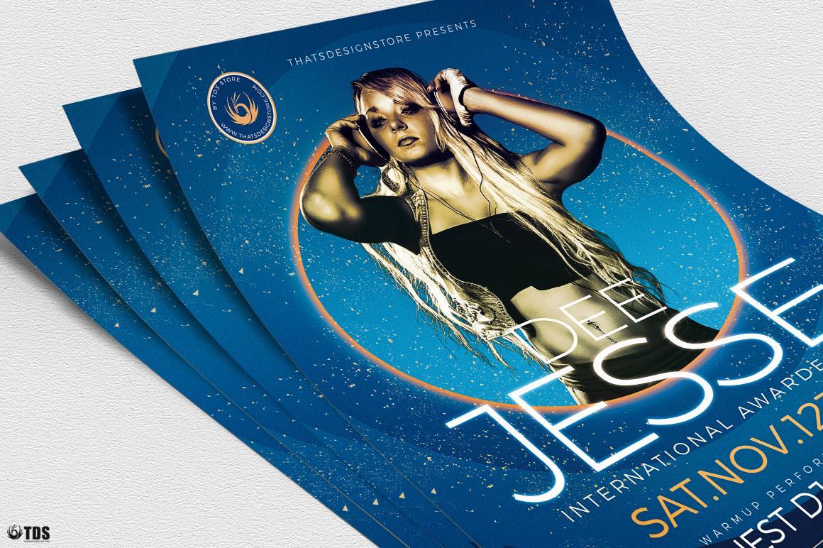 DJ Session Flyer Template V6 example image 5