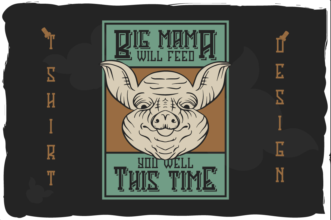Big Pig Mama typeface illustration example image 3