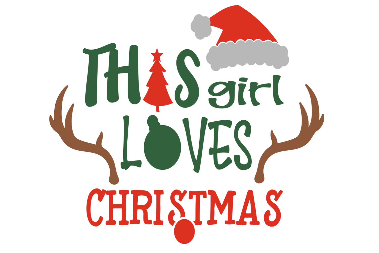This girl loves Christmas svg Merry Christmas svg Holiday example image 2