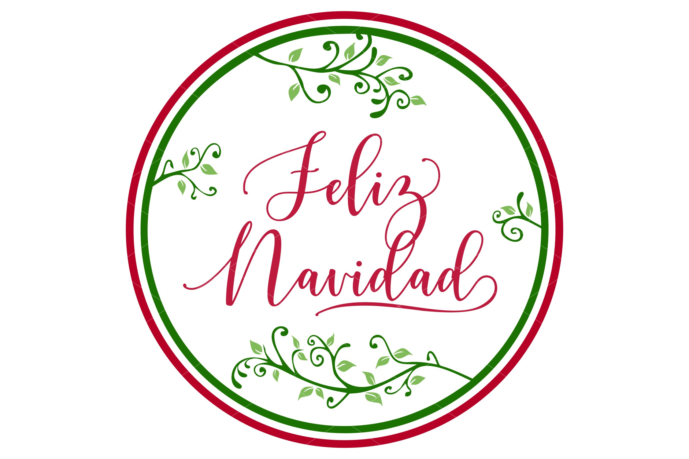 Feliz Navidad SVG Printable & Sublimation PNG example image 3