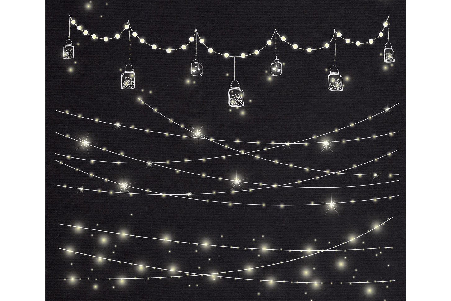 Christmas String Lights Clip Art Example Image 4