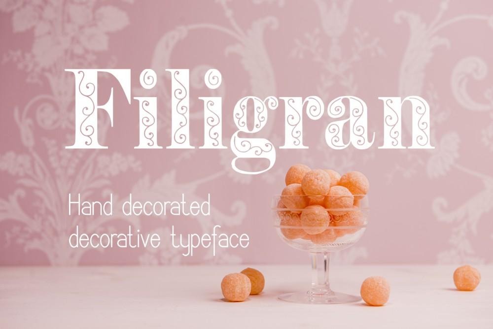 Filigran font example image 4