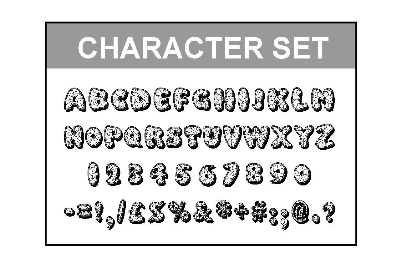 Eggshell Mosaic font example image 2