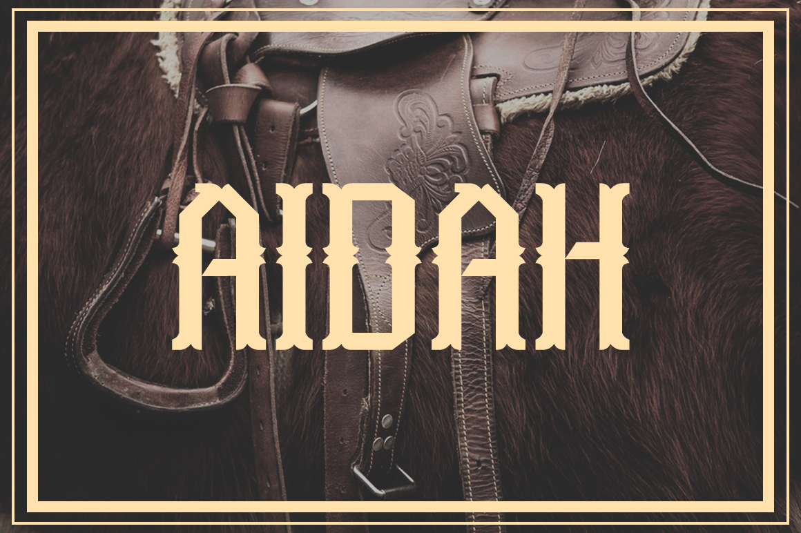 Aidah Typeface example image 1