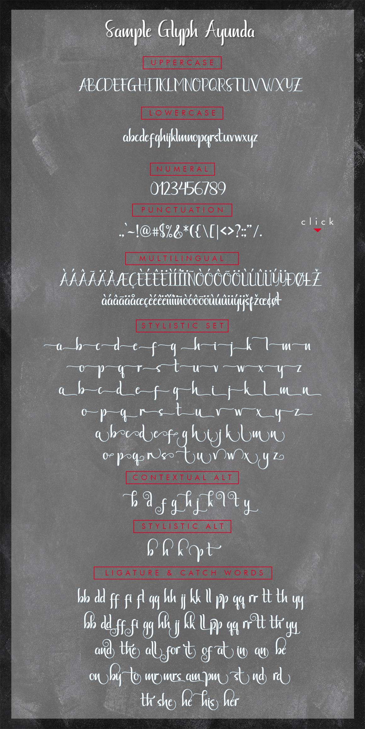 Ayunda Typeface example image 20