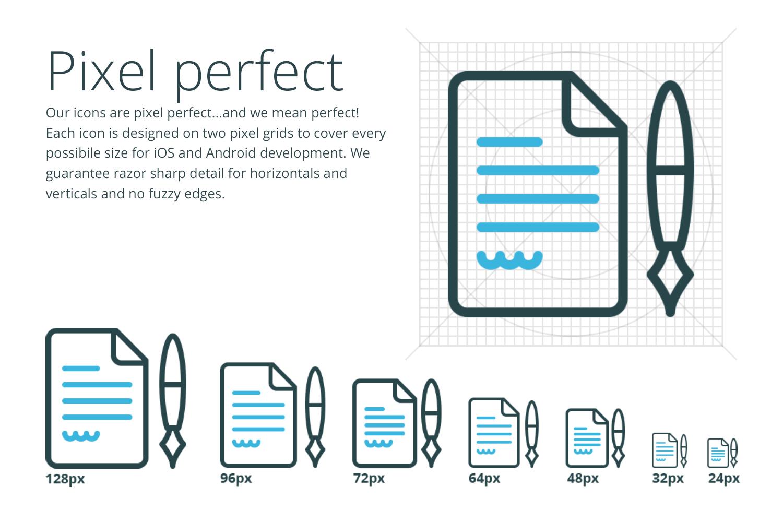 Pixel perfect iOS icons