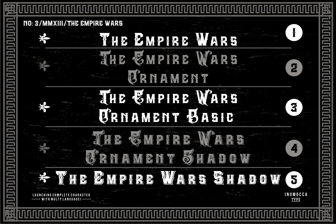 The Empire Wars (family font) example image 2