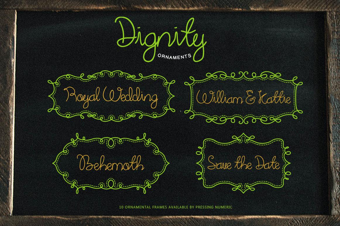 Dignity Cursive + Bonus example image 3
