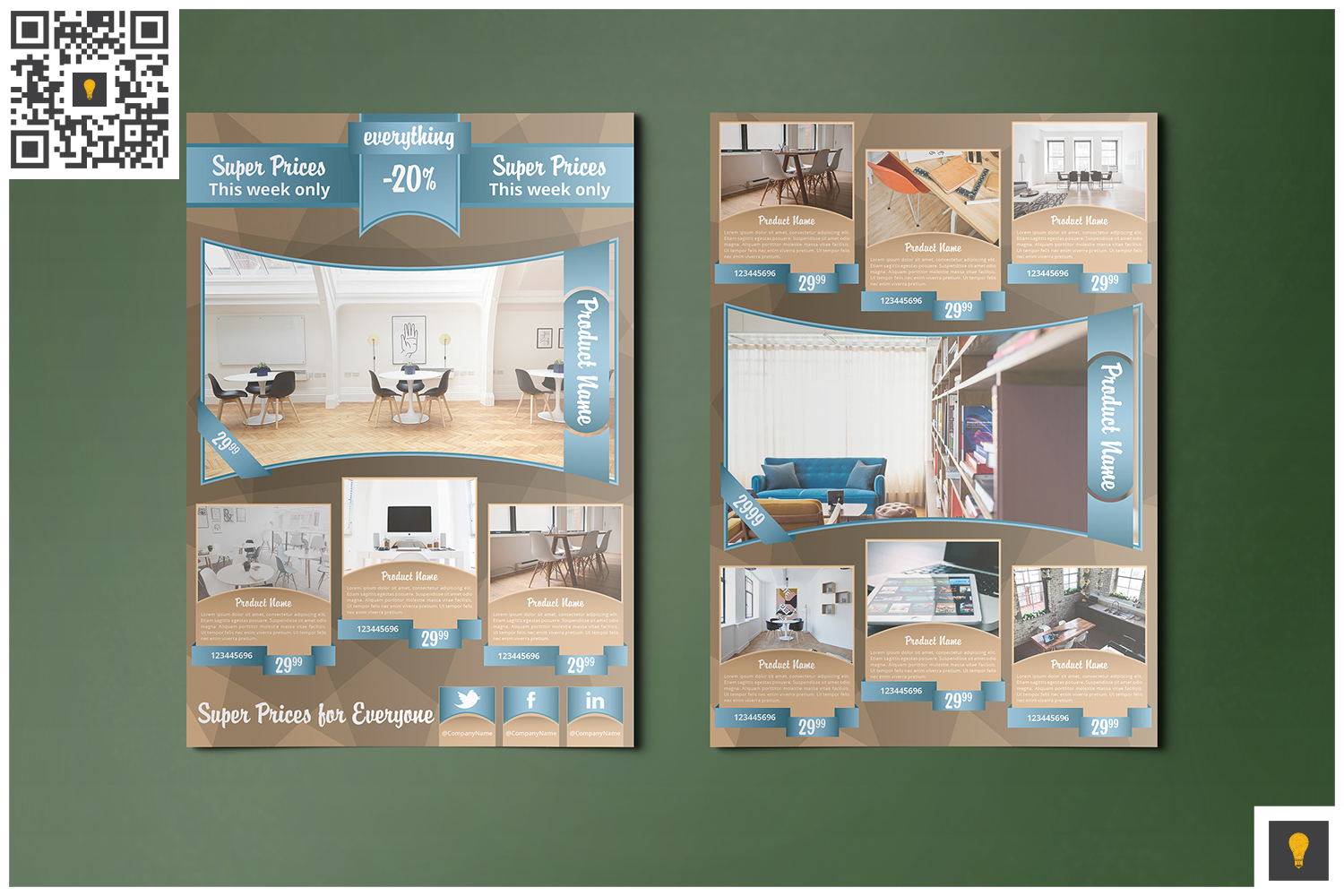 Corporate Product Promotion Flyer Beige