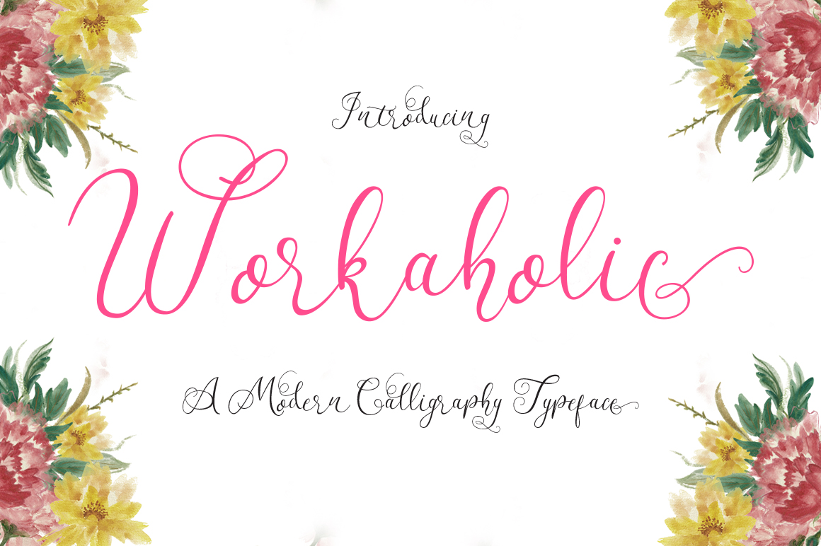 Workaholic Typeface example image 1