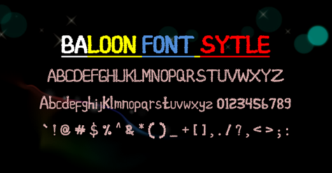 baloon font style example image 3