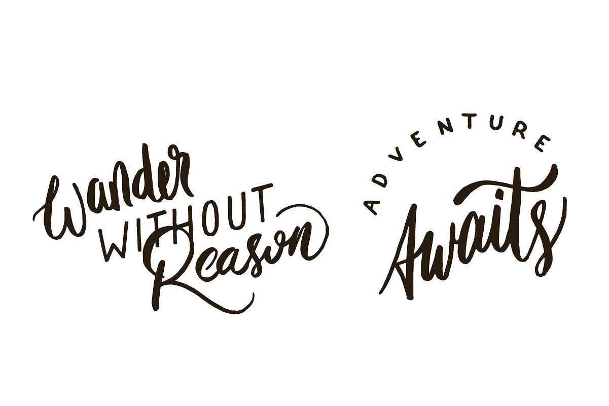 Adventure Lettering Illustrations example image 8