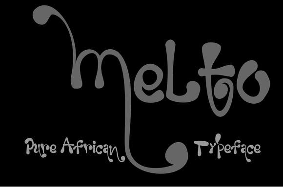 MELTO melting Font example image 2