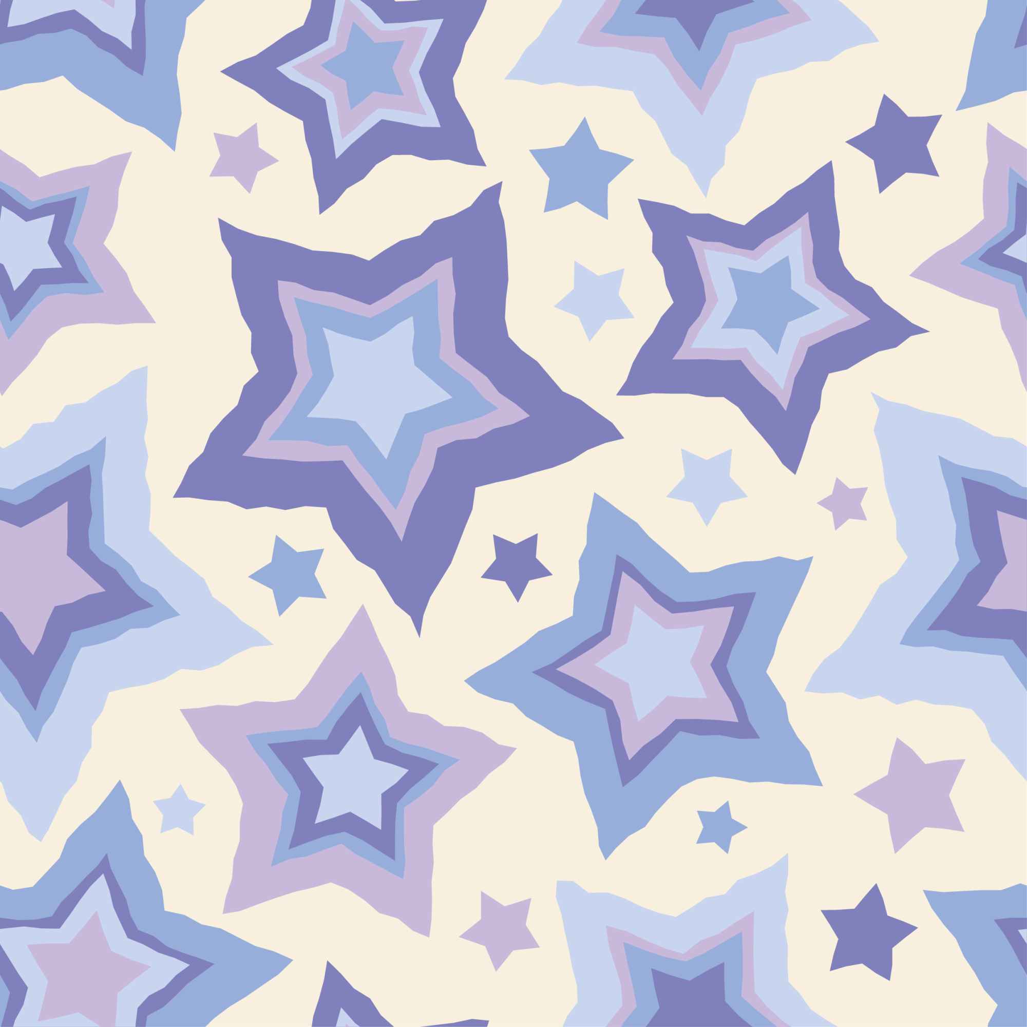 Set of 12 seamless vector backgrounds with decorative stars.  example image 11