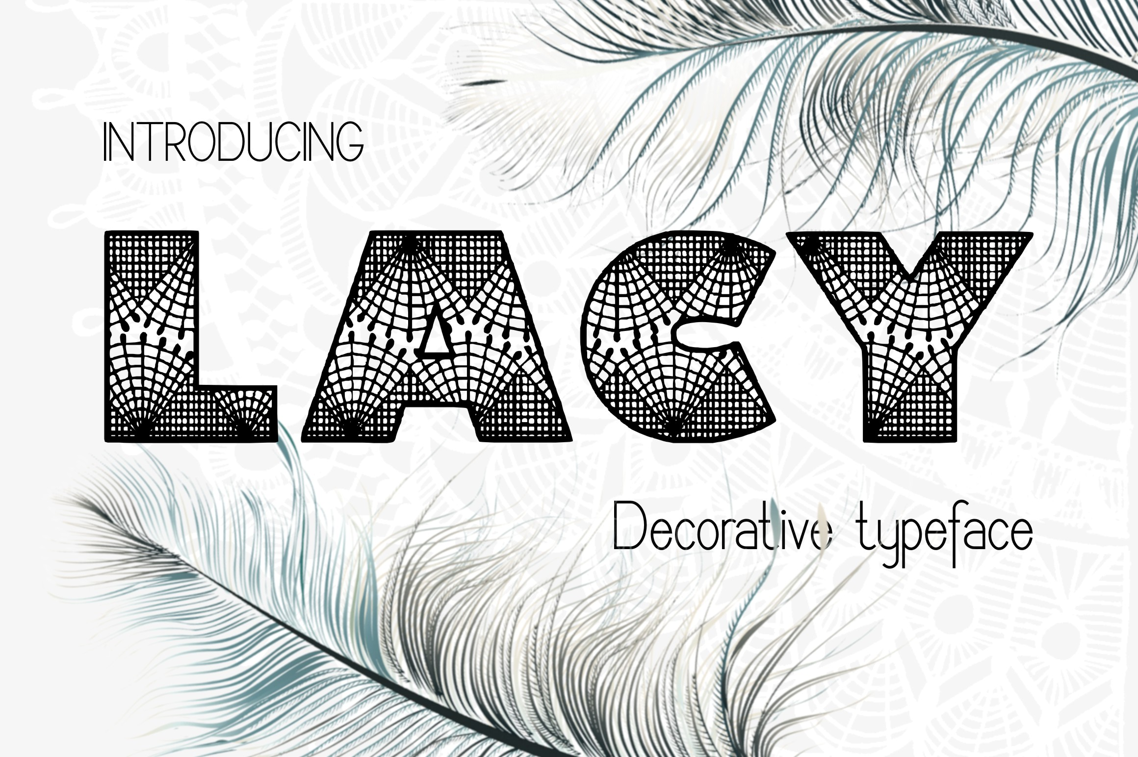 Lacy decorative font example image 1