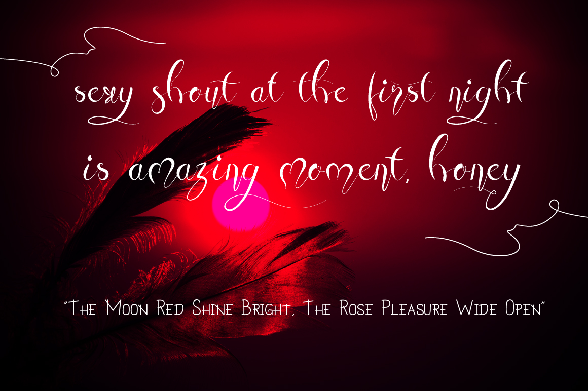 Honey Moon Midnight Two Fonts example image 7