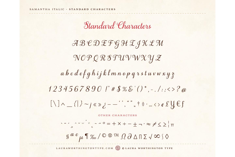 Samantha Script Italic Bold example image 5