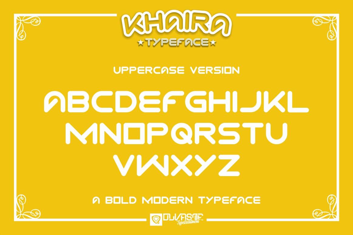 KHAIRA TYPEFACE example image 5