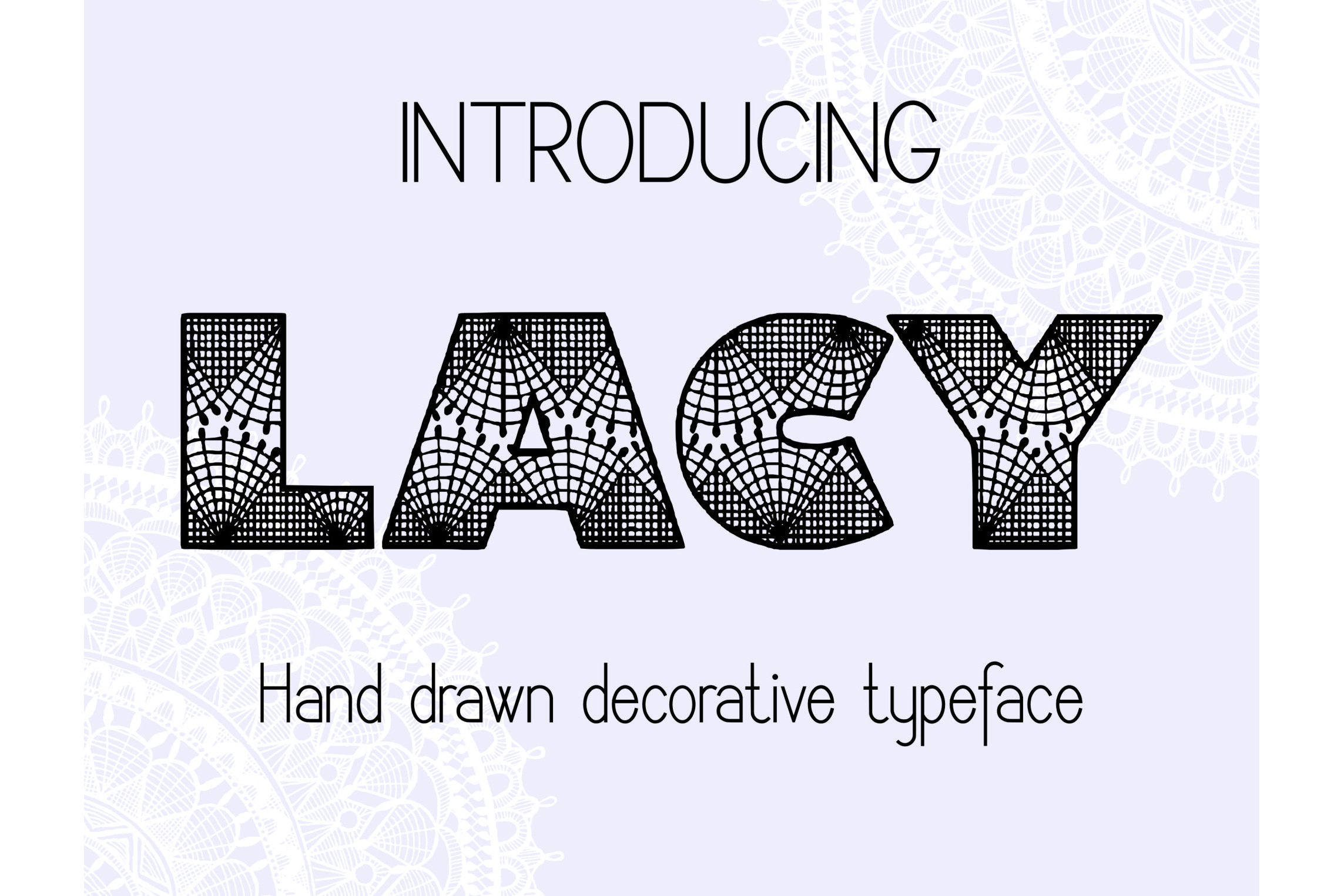 Lacy decorative font example image 2