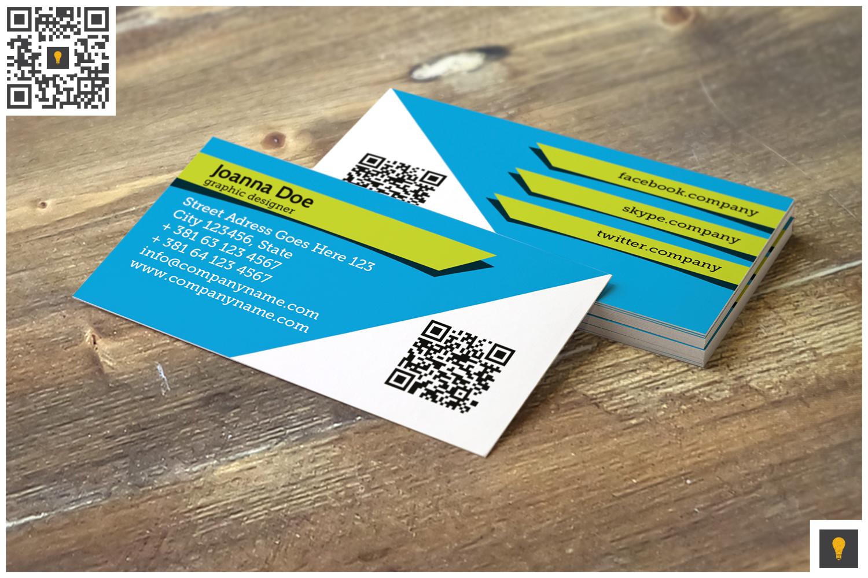Stripe Modern Business Card Blue