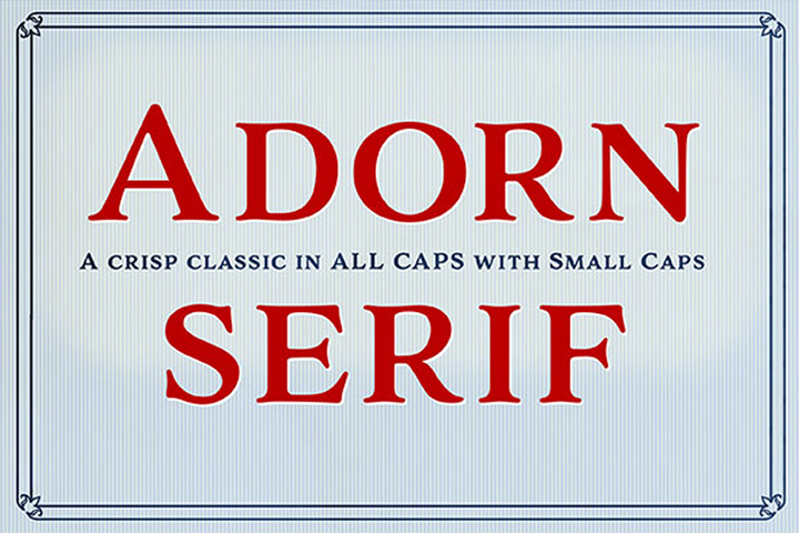 Adorn Smooth Serif example image 1
